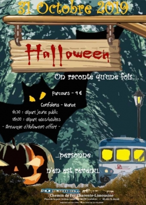 Billet 1 personne – Train d'Halloween